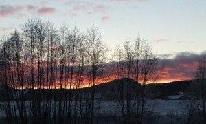 Finnskogen - utsikt fra Dæsbekken Villmarkssenter