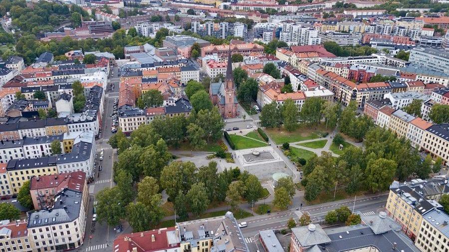 Flyfoto over Birkelunden i Oslo