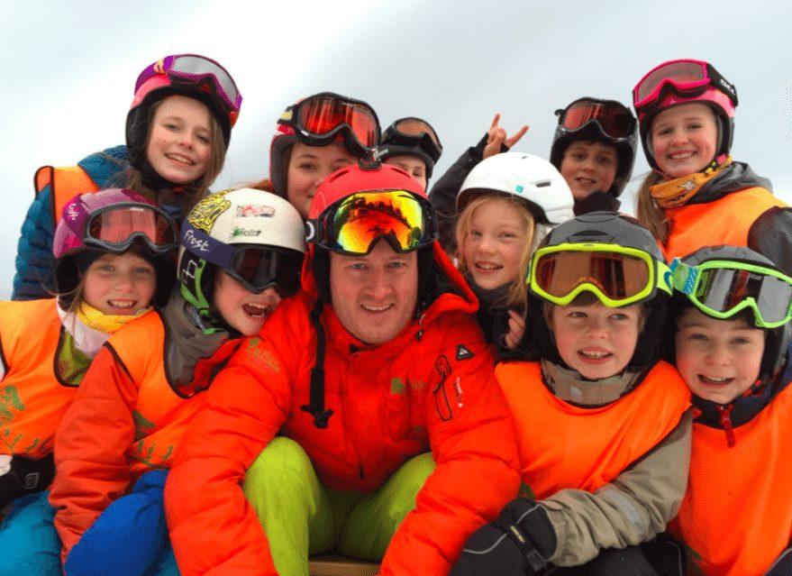 Slalåm- og snowboardkurs for barn hovedbilde