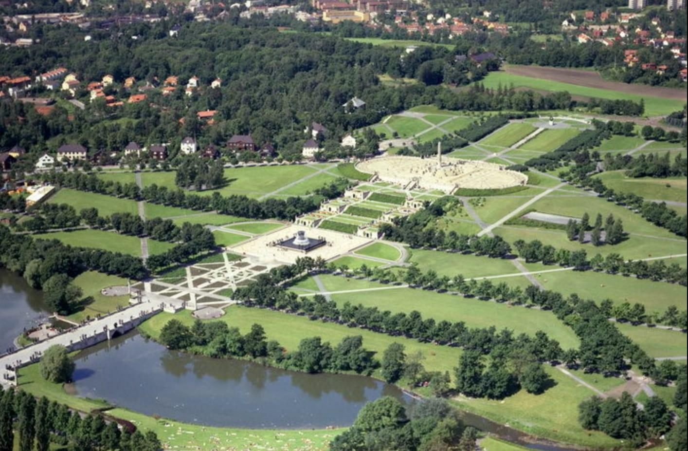 Flyfoto av Frognerparken, foto: nybilder.no