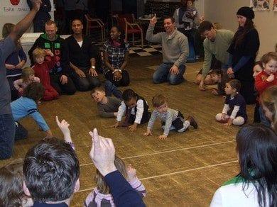 Afrikansk lekestue for barn