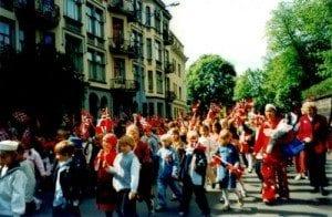 Nasjonaldagen 17. mai i Oslo - Barnetoget
