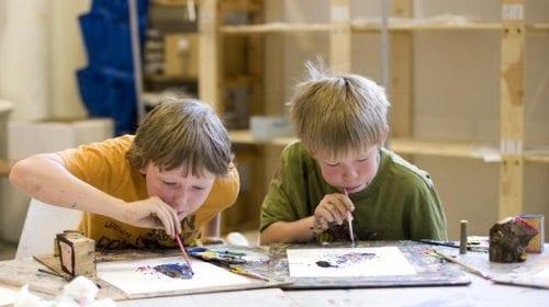 Barneverksted på Henie-Onstad