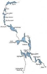 Oslomarkas Fiskeadministrasjon har kart over vannveien gjennom Nordmarka