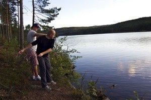 I innsjøer kan man dra på krepsefiske
