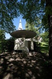 Pissoaret er bygget i Funkis-stil og er fredet