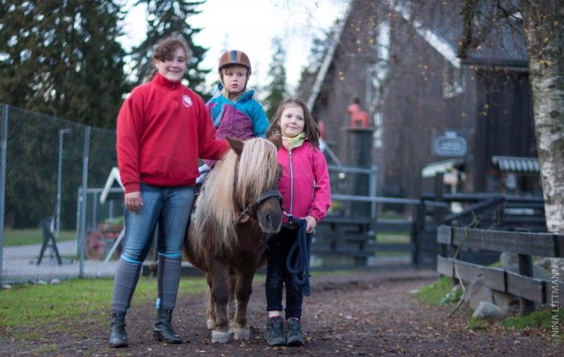 Runderidning på ponny