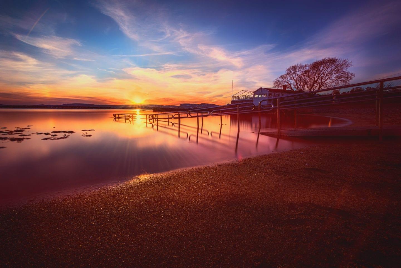 Strand og solnedgang på Bygdøy
