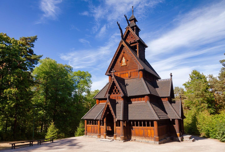 Gol stavkirke fra 1200-tallet på Bygdøy