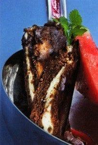 Sjokoladekake med ost og nøtter