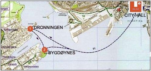 Bygdøybåtene - rutetabell for ferje til Bygdøy