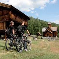 På sykkel i Uvdal