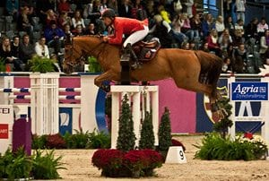 Hest hopper over hinder