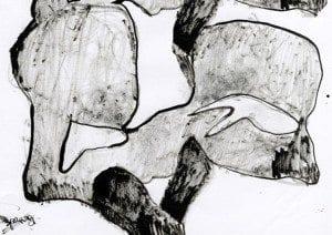 Mone Nedberg - Den stivnede form - utstilling