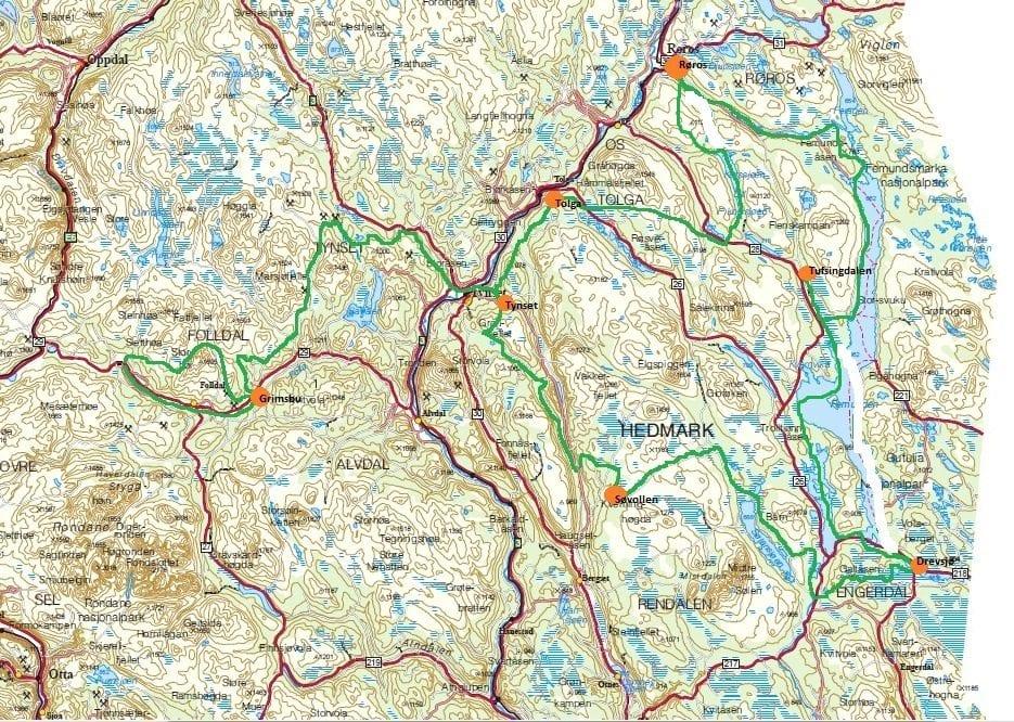 Femundløpet kart 2012