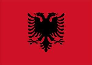 Albanias flagg