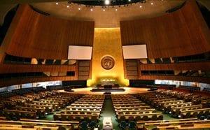 UN General Assembly hall Foto: Patrick Gruban
