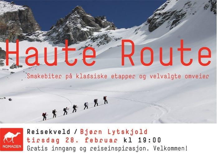 Haute Route foredrag på Nomaden Bokhandel 2012