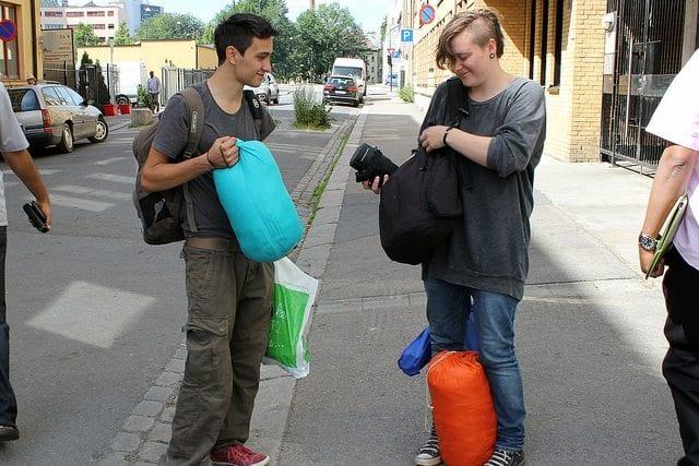 """""""Uteliggerliv"""" med Leif og Idun. Foto: Lene Haug"""