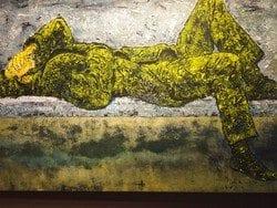 Brynjulf Jensvoll stiller ut akrylmaleriene sine på Deichmanske Majorstuen