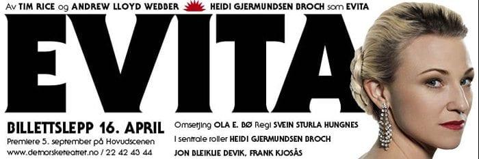 Billettsalget til Evita starter 16. april 2012