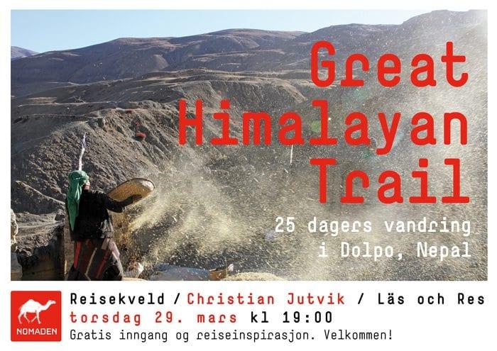 Foredrag om Nepal med Christian Jutvik på Nomaden