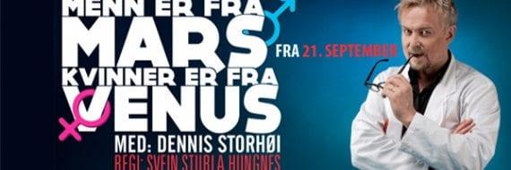 Menn er fra Mars, kvinner er fra Venus settes opp på Christiania Teater