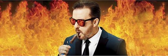 Ricky Gervais besøker Oslo Spektrum søndag 2. desember 2012 kl. 19:30