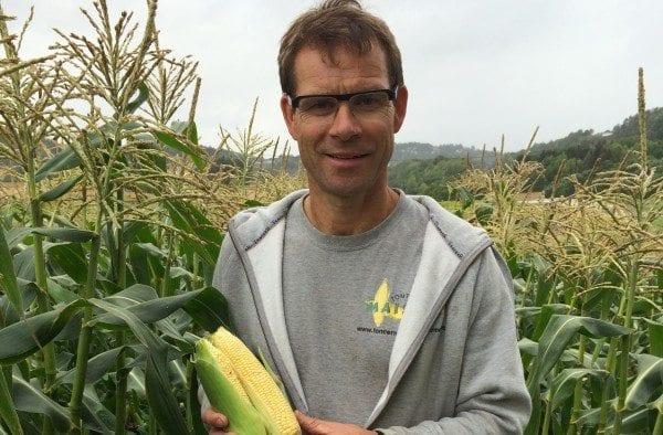Inviterer til gards: Ole Martin Tomter ønsker en ny sesong med  selvplukk av mais og grønnsaker velkommen.