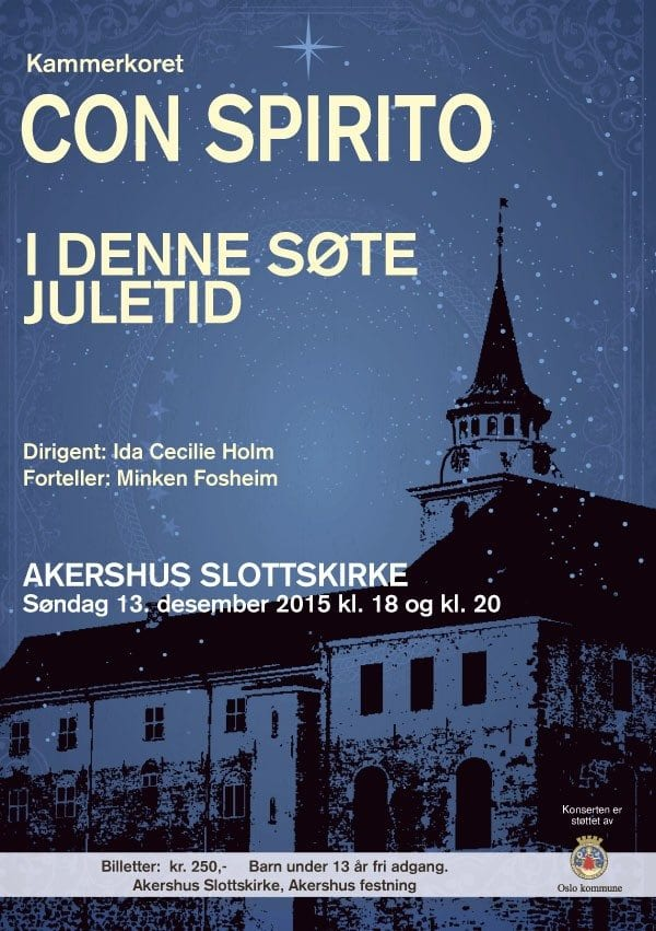 Julekonsert med kammerkoret Con Spirito hovedbilde