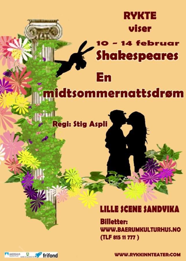 RYKTE spiller En Midtsommernattsdrøm av William Shakespeare hovedbilde