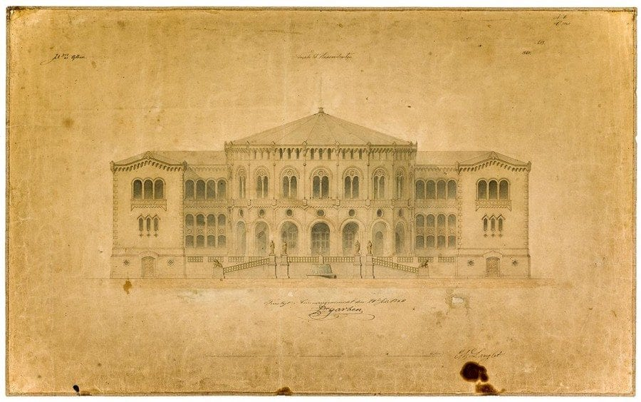 En ny stortingsbygning. Konkurranse og debatt 1836–1866 hovedbilde