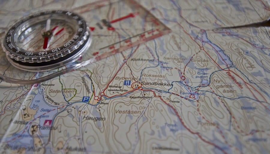 Lær å bruke kart og kompass hovedbilde