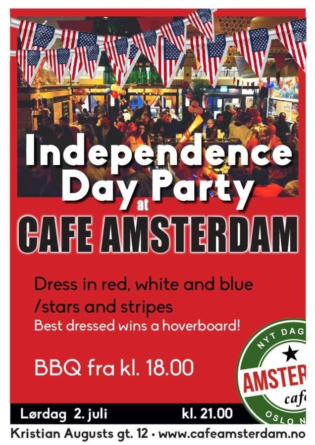 Cafe Amsterdam´s Independence Day Party July 2nd hovedbilde