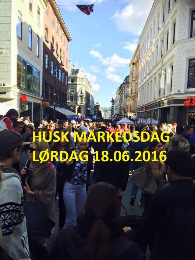 Markedsdag i Karl Johan hovedbilde