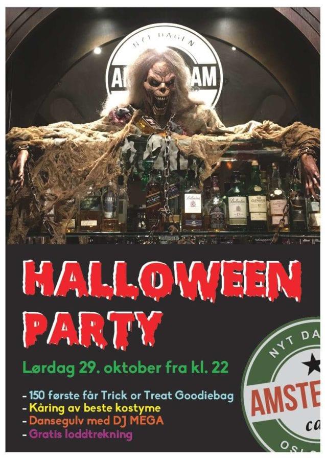 Halloweenparty på Cafe Amsterdam hovedbilde