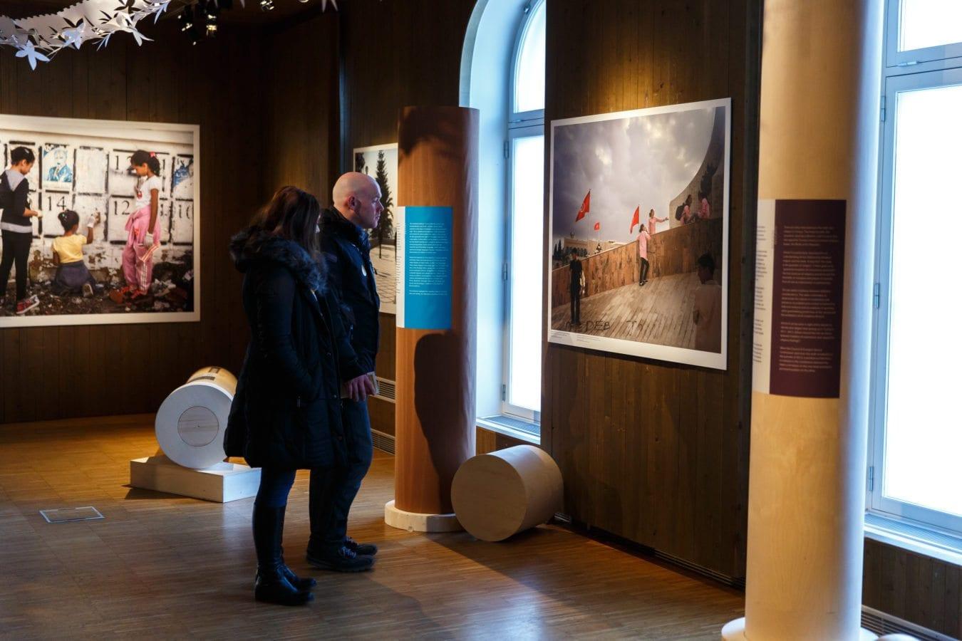 Documentation of the Nobel Peace Prize exhibition 2015 The Tunisian Method *** Local Caption *** Photo: Johannes Granseth / Nobel Peace Center