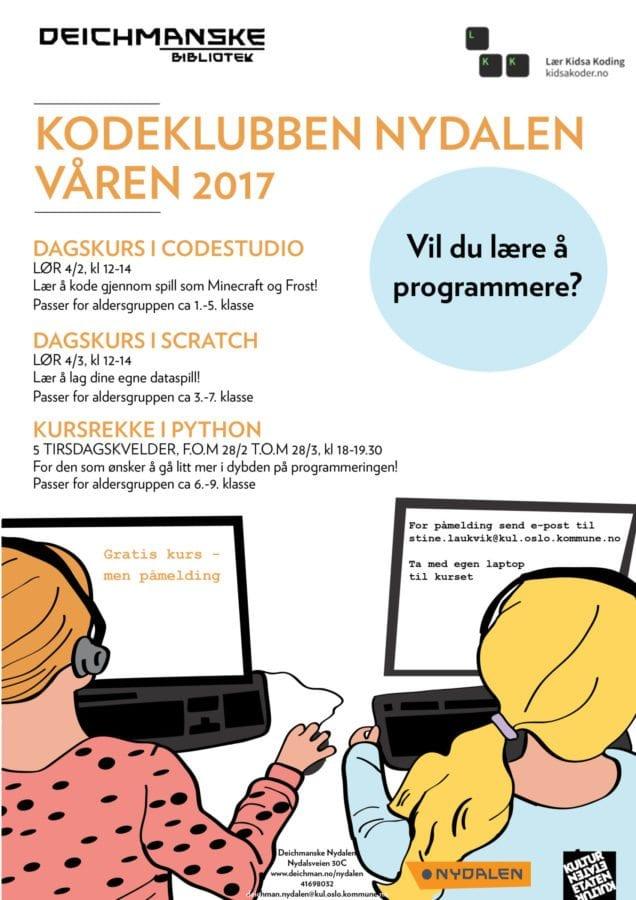 Kodekurs Deichmanske Nydalen: Scratch