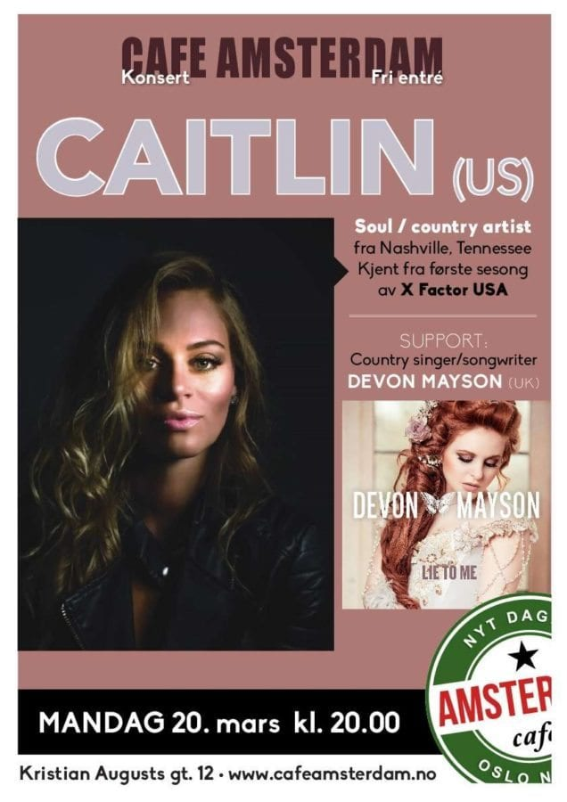 Caitlin Koch and Devon Mayson concert hovedbilde
