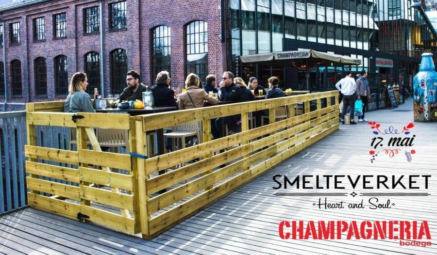 17. Mai på Smelteverket & Champagneria hovedbilde