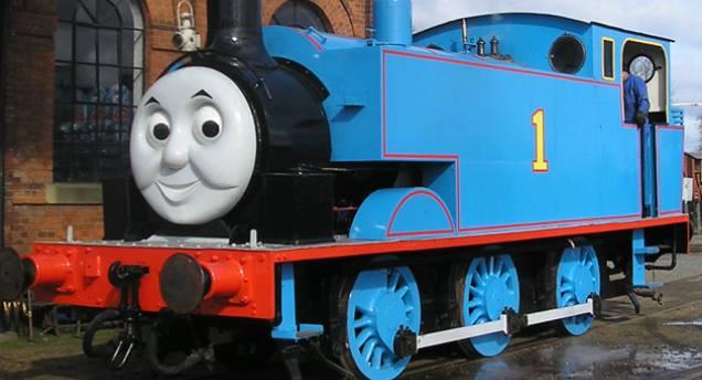 Sommerfilmvisning med Thomas-toget