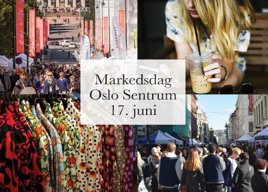 Markedsdag i Oslo Sentrum hovedbilde