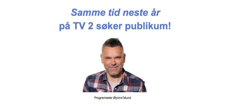 """Invitasjon til TV 2 sitt nye TV-program """"Samme tid neste år"""" hovedbilde"""