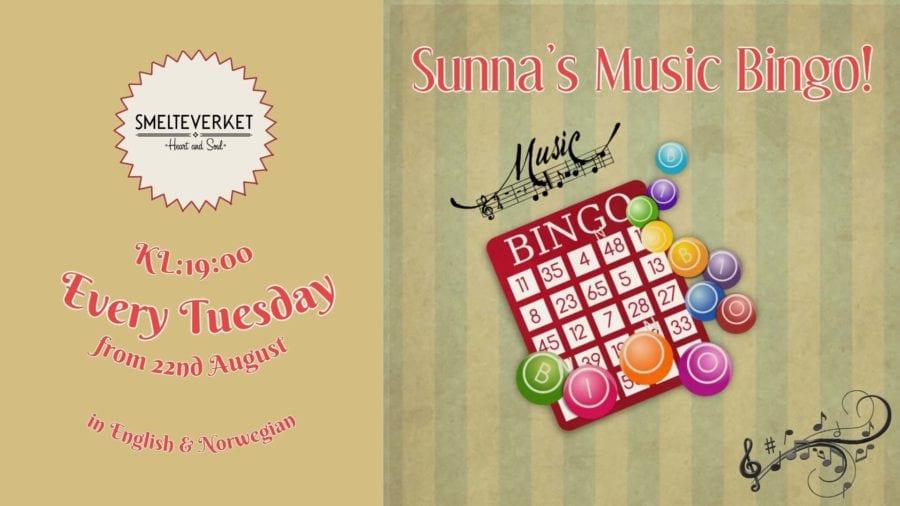 Smelteverket Presenterer: Sunna's Musikkbingo! hovedbilde
