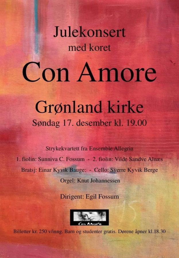 Julekonsert med koret Con Amore hovedbilde
