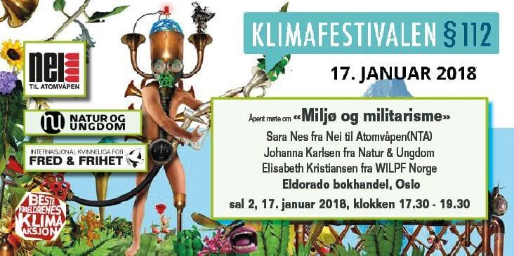 Klimafestivalen §112 – Miljø og militarisme hovedbilde