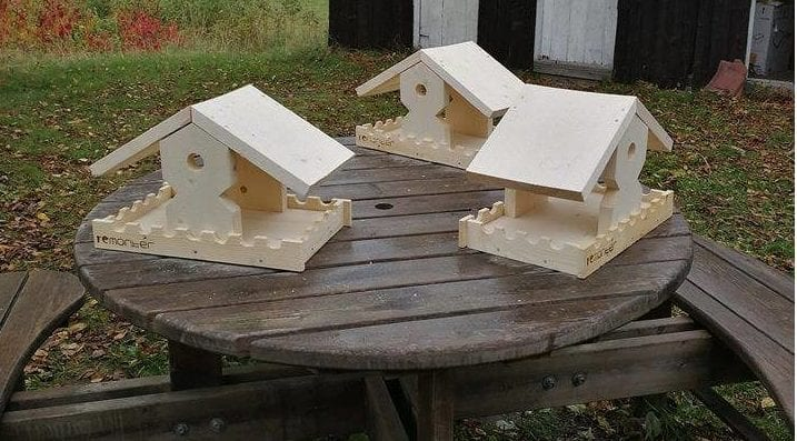Lilløyplassen naturhus: Snekring av fuglemater hovedbilde