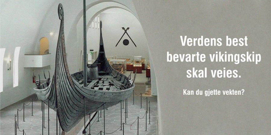 Gjett vekten på verdens best bevarte vikingskip