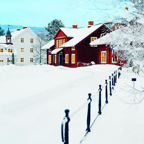 Vinter på Hadeland Glassverk hovedbilde