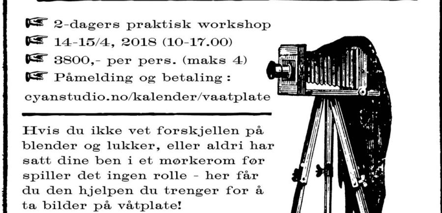 Workshop i våtplate-fotografering med Julie Loen hovedbilde
